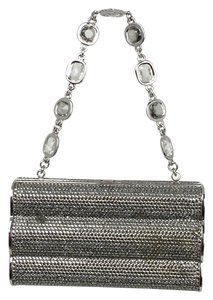 Judith Leiber Silver/white Clutch