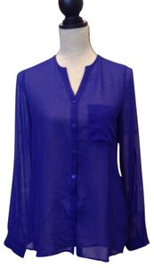 Fun 2 Fun Button Down Shirt Purple