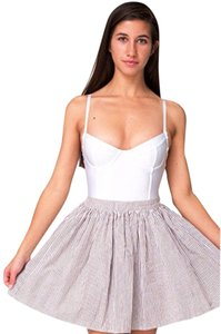 American Apparel Skirt Beige/white