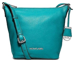 Michael Kors Crossbody Leather Tile Blue Messenger Bag