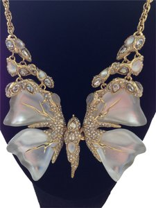 Alexis Bittar White Butterfly Necklace
