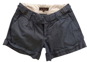 Ben Sherman Checkered Patterned Shorts Blue
