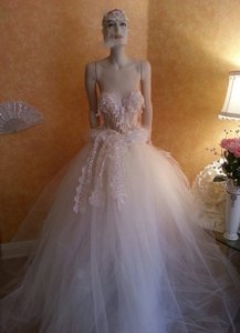 Champagne Ivory Goddess Wedding Dress
