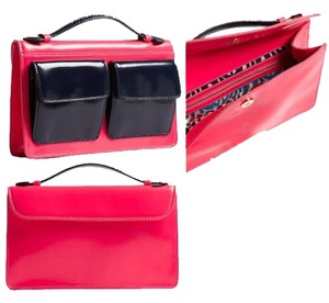 Marc by Marc Jacobs Neon pink and navy blue Clutch