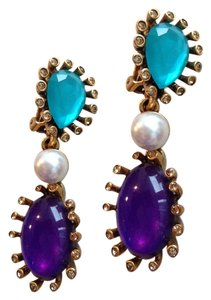 Oscar de la Renta statement earrings