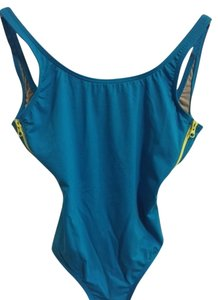 J.Crew Italian matte side-zip one-piece swimsuit - PAGODA BLUE