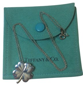 Tiffany & Co. Tiffany & Co Silver and K18 Clover Heart Charm Necklace Chain 16