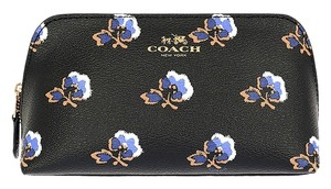 Coach Coach Bramble Rose Floral Print Cosmetic Makeup Case Travel Bag F64247