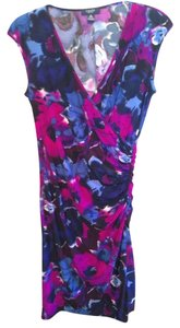 Chaps short dress Purple/multi on Tradesy