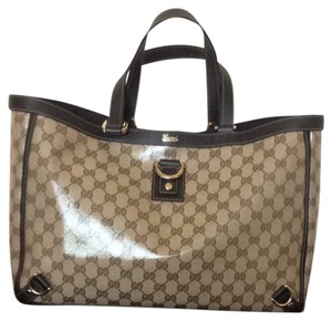 Gucci Tote in Shade Of Brown With Pale Gold Hardware