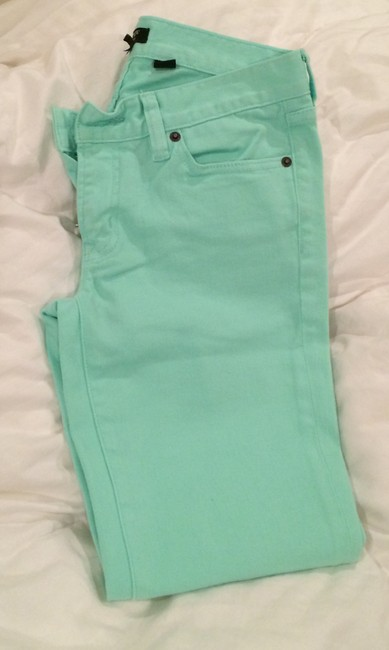 Item - Mint Coated Toothpick Skinny Jeans Size 26 (2, XS)
