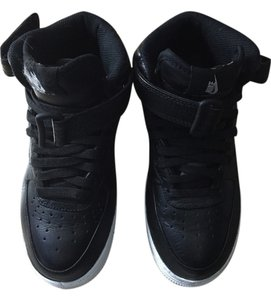 Nike Leather Air Forces Black Athletic