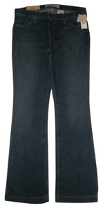 Gap Classic 5 Pocket Style *zip Fly Low Waist Crosshatch Rinse Whiskering & Wrinkling Detail Flare Leg Jeans-Dark Rinse