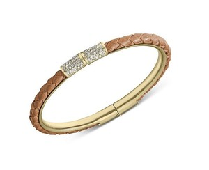 Michael Kors W Bonus Pave Braided Leather Bracelet
