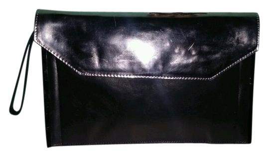 Kenneth Cole Envelope Sleek Chic Going Out Night Out Black Clutch