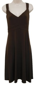London Times Crisscross Strap Sheer Panel Dress