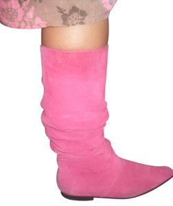 Route 66 Suede Leather Size 8 HOT PINK Boots