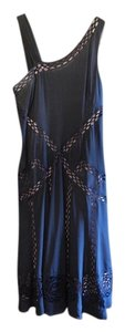 Nicole Miller French Vintage Cut-out Asymmetrical Dress