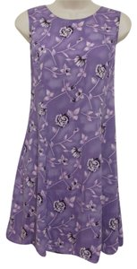 DBY Ltd. short dress Purple print Floral Corset Ties Swing 90's on Tradesy