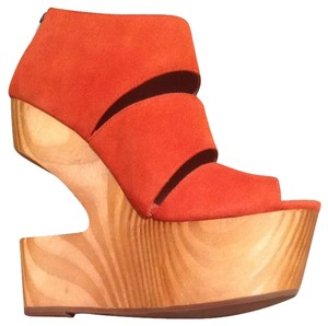 DV8 by Dolce Vita Platform Suede Coral Coral Suede Wedges