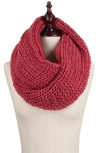 Other Chunky Solid Rib Knit Infinity Scarf Rose