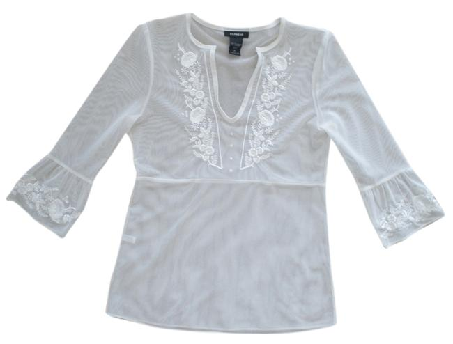 Preload https://item3.tradesy.com/images/express-embroidered-mesh-top-white-924167-0-0.jpg?width=400&height=650