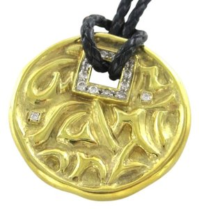 Seiden Gang SEIDEN GANG 18KT YELLOW GOLD PENDANT DIAMOND LOVE HEALTH HAPPINESS NECKLACE