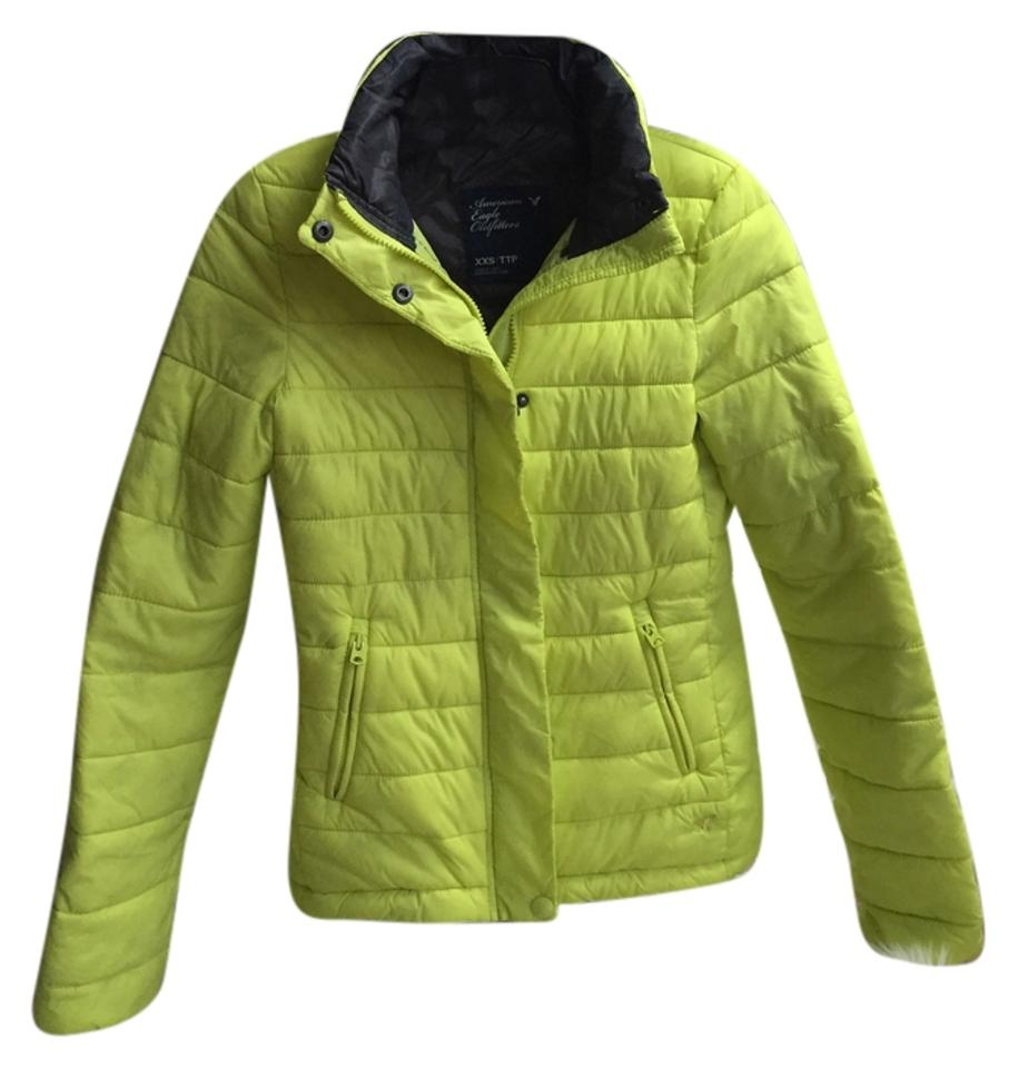 ce00eb2f0 American Eagle Outfitters Chartreuse Puffer Coat Size 00 (XXS) - Tradesy