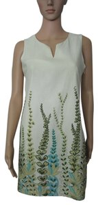 Ann Taylor LOFT short dress Cream, Blue, Green Floral New on Tradesy