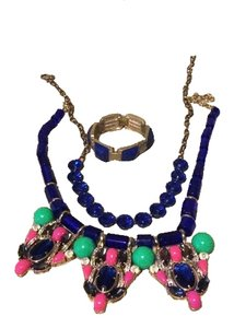 J.Crew Blue jewelry set