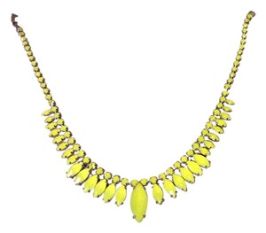 Ann Taylor Yellow statement necklace
