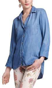 Anthropologie Button Down Shirt Denim