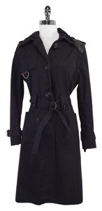 Mackage Black Leather Convertible Trench Trench Trench Coat