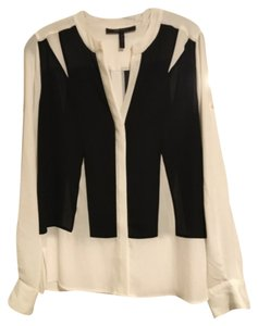 BCBGMAXAZRIA Top Black white