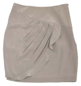 3.1 Phillip Lim Grey Silk Petal Skirt