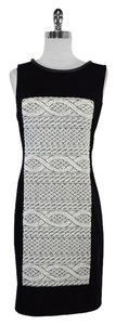 Yoana Baraschi short dress Black White Knit Sleeveless on Tradesy