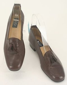 Selby Aaaaaa Leather Tassel Womens Loafers B101 Brown Flats
