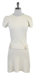 MILLY short dress Cream Cable Knit Short Sleeve on Tradesy