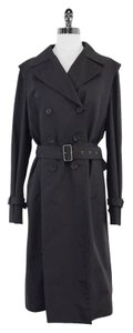 Jil Sander Black Cotton Blend Trench Coat