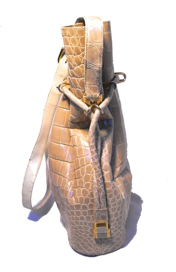 Morabito Alligator Alligator Crocodile Bucket Vintage Shoulder Bag