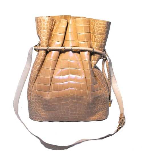 Preload https://img-static.tradesy.com/item/924839/vintage-bucket-natural-alligator-shoulder-bag-0-0-540-540.jpg