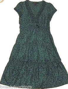 Marc by Marc Jacobs short dress Multi-Color Boho Silk W Tie Green Blue Floral Print on Tradesy