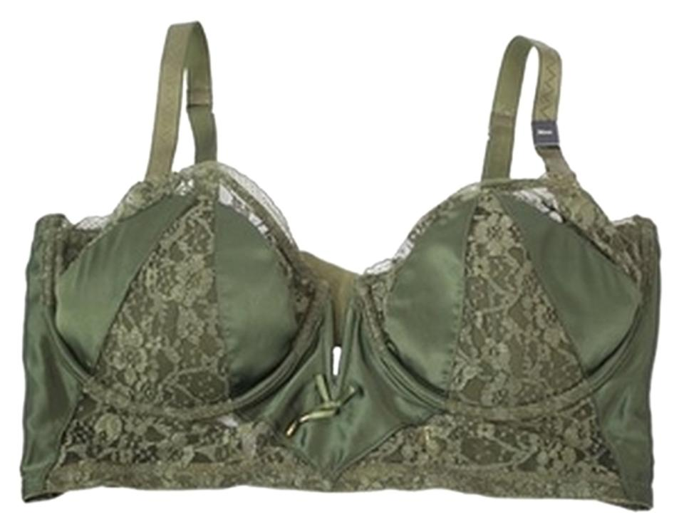 Victoria 39 s secret green new 34c very sexy long line padded for Liner diametre 4 50