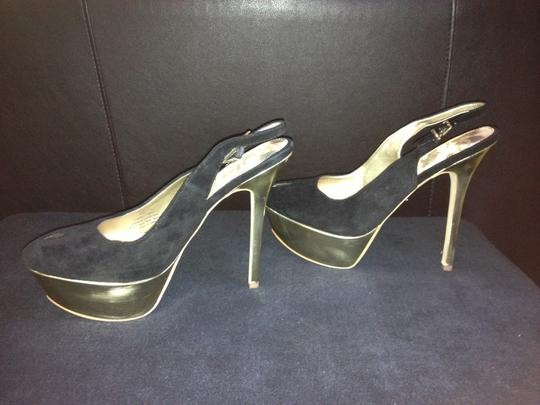 Sam Edelman Novato Black & Gold Platforms