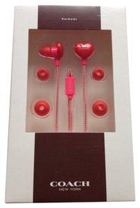 Coach 2 PIECE SET Limited Edition Heart Earbuds & Dot Logo Wristlet