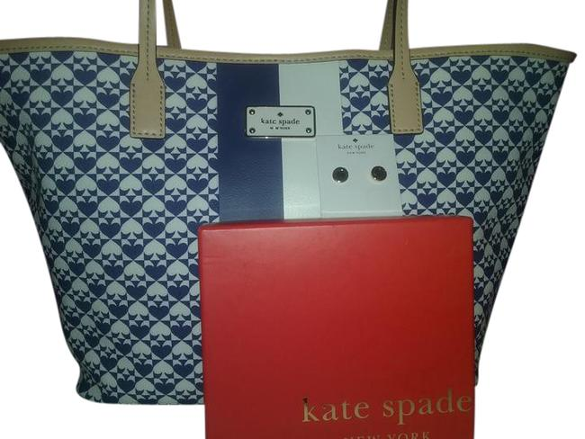Kate Spade Two Pieces-spade Studs & Possible Diaper/ Shoulder Bag Kate Spade Two Pieces-spade Studs & Possible Diaper/ Shoulder Bag Image 1