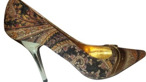 If Carrini Gold Pumps