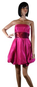 Betsey Johnson Pink Sequin Bubble Hem Size 2 New Nwt Dress