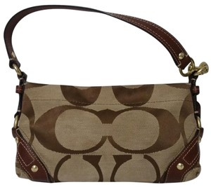 205cfb0a100 Coach Stripe Handbag   Creed    H0767-11096 Khaki Mahogany Signature ...