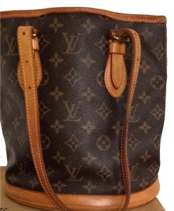 Louis Vuitton Lv Vintage Leather Monogram Shoulder Bag
